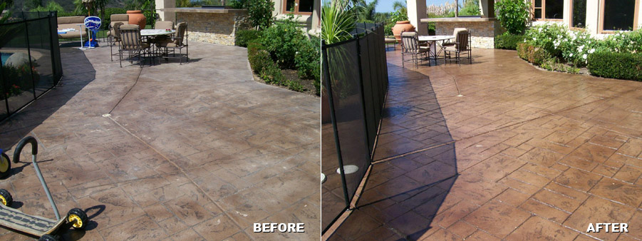 Residential Concrete Patio Resurfacing Before And After